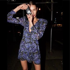 The Kooples Hortensia Print Silk Dress